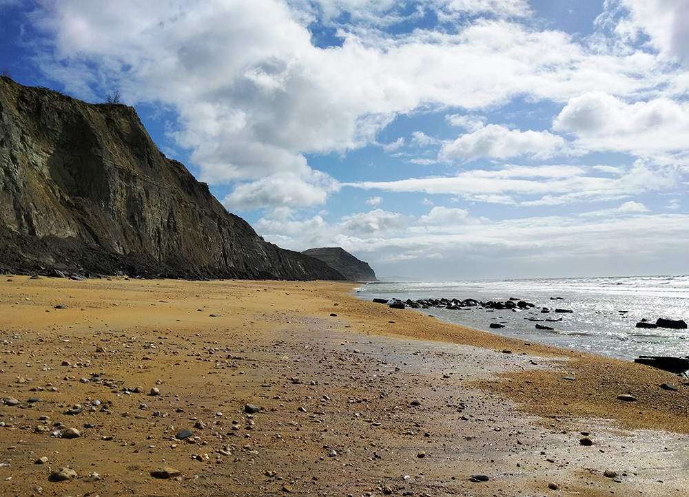 Charmouth beach on a quiet day