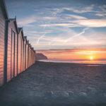 Dawn from the beach huts