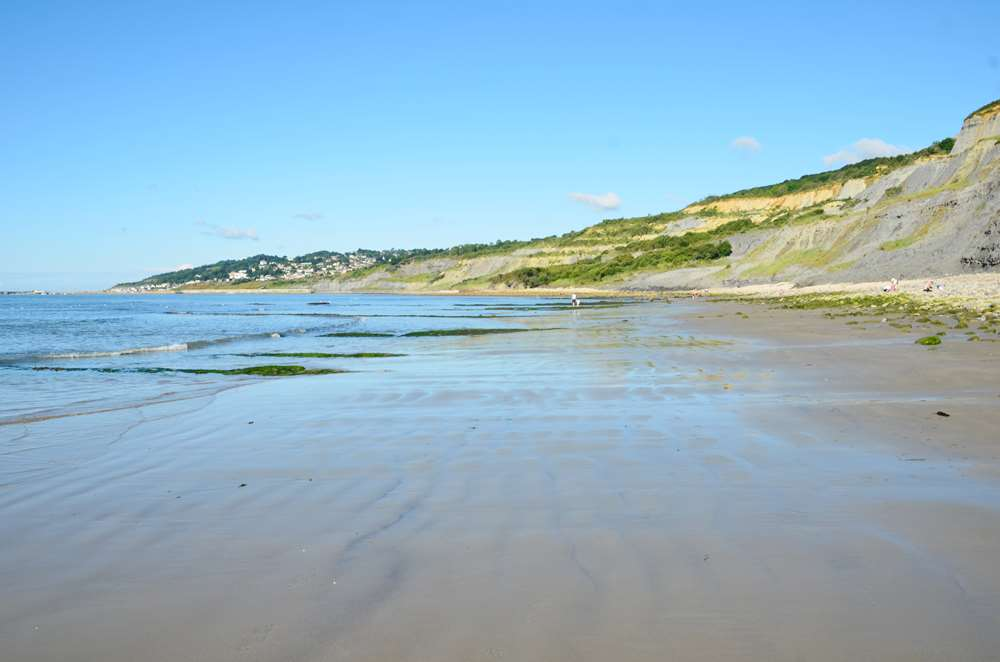Charmouth West Beach at low tide