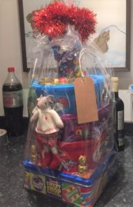 One of the prizes in the raffle