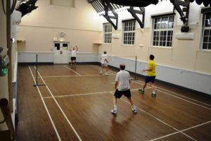 Badminton at the Community Hall, Charmouth