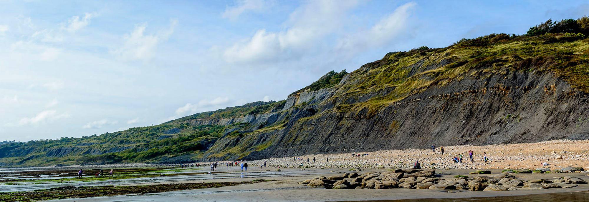 Charmouth beach and cliffs
