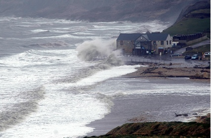 Storm at Charmouth